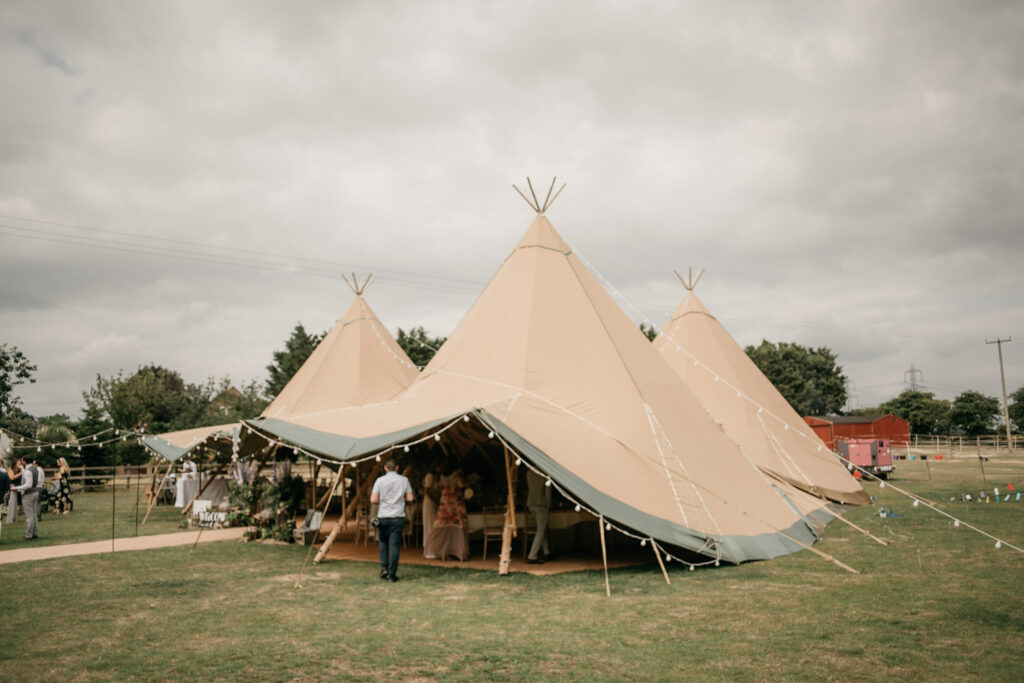Photography of a tipi Wedding Venues In the South Of England